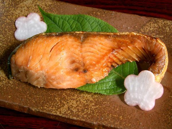 塩引き鮭の切り身