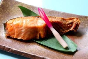 る塩引き鮭の味